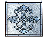 24' x 24' Tiffany Style Stained Glass Clear Beveled Window Panel