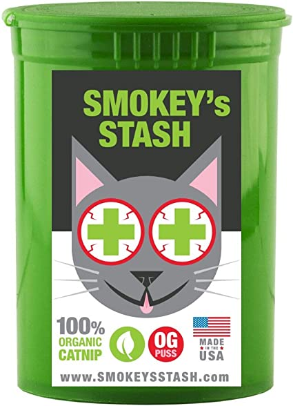 Amazon Com Smokey S Stash Organic Catnip Og Puss Potent Cat Nip