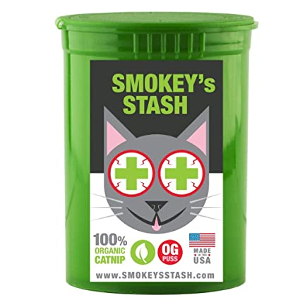 c8e0ade1ab9f6 Organic catnip by Smokey's Stash | OG puss | cat weed for cats pop top -