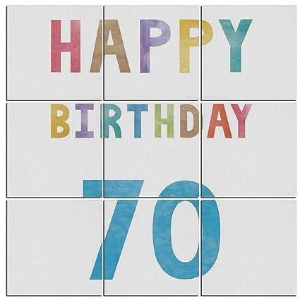 Amazon 9 Pc Wall Art Set 70th Birthday Decorations Vintage