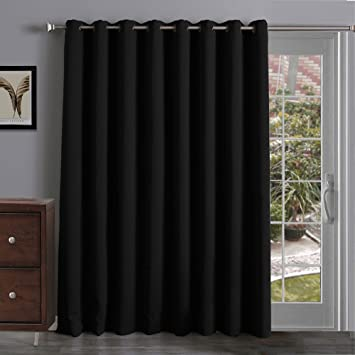 Amazon.com: Onlycurtain Thermal Insulated Blackout Patio Door ...