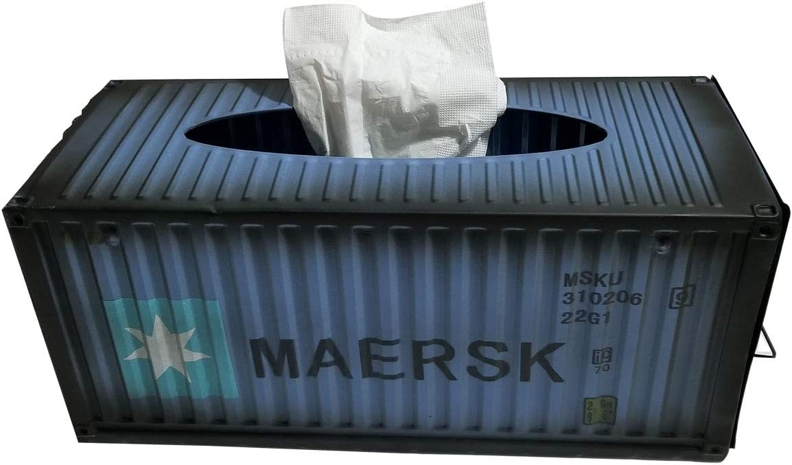 Shipping Container Tissue Box Cover