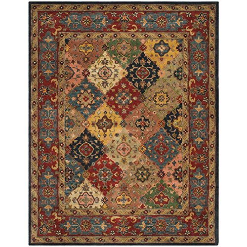 Safavieh Heritage Collection HG926A Handcrafted Traditional Oriental Red and Multi Wool Area Rug (8'3