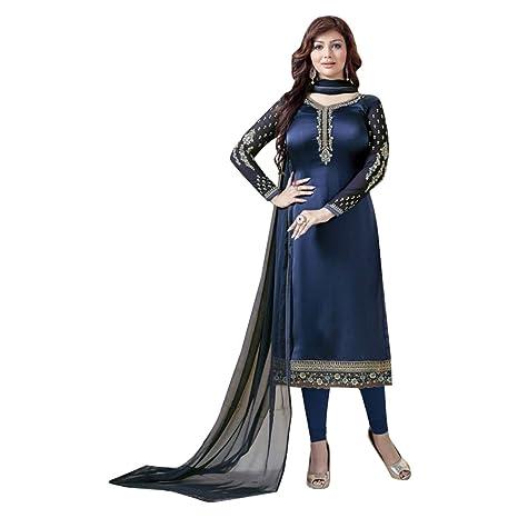 e95be7e9a8 Amazon.com: Bollywood Stylish Wedding Silk Koti Style Salwar Kameez ...