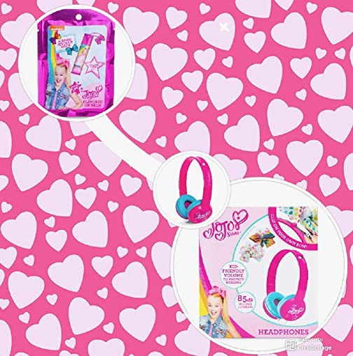 JoJo Siwa Clip Your Own Bow Kid Friendly Headphones
