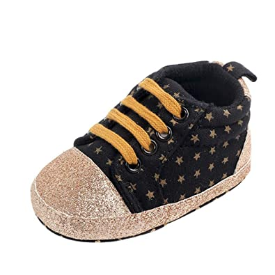 0f8eeb3872c08 Toddler Canvas Shoes, Baby Boys Girls Star Print First Walkers Soft ...
