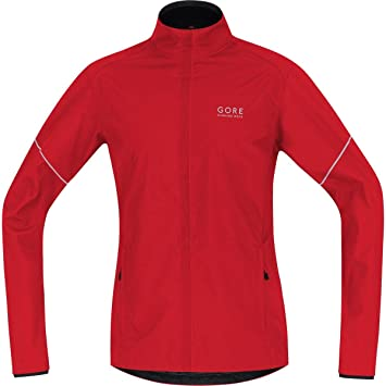 GORE RUNNING WEAR Cálida chaqueta para correr, Hombre, Ligera, GORE WINDSTOPPER, ESSENTIAL WS AS Partial Jacket, Talla S, Rojo, JWESNO350003: Amazon.es: ...