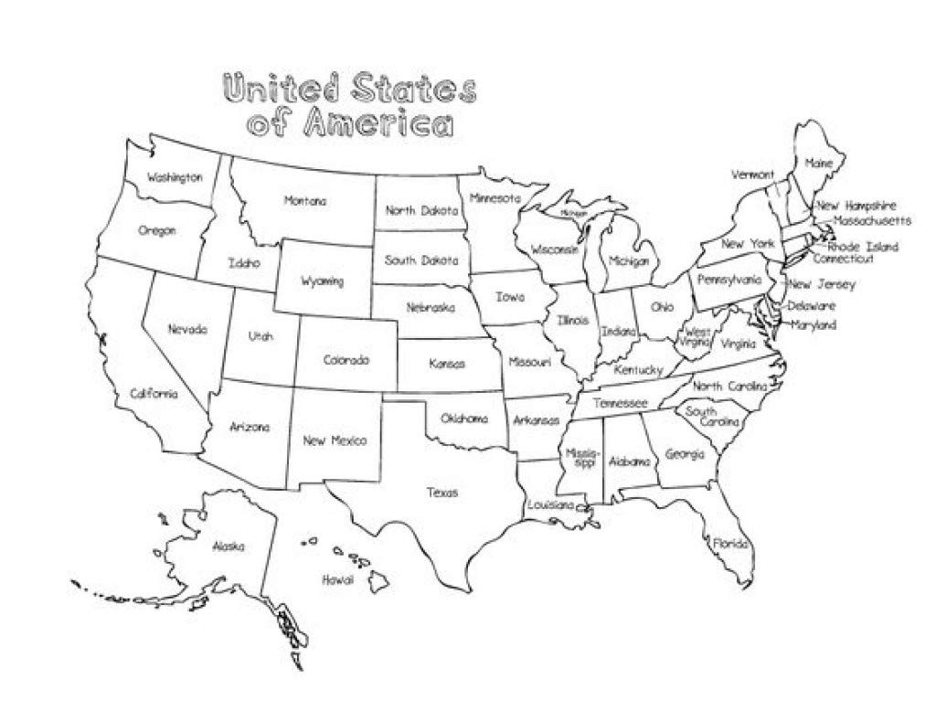 Amazoncom Home Comforts Laminated Map Us Map Names Printable - Blank-us-maps-to-fill-in
