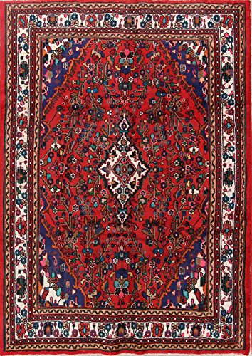 Rug Source Floral Hamedan Hand Knotted Persian Area Rug 7x10 For Dining Room (9' 9'' x 6' (Hamedan Persian Hand Knotted Rug)