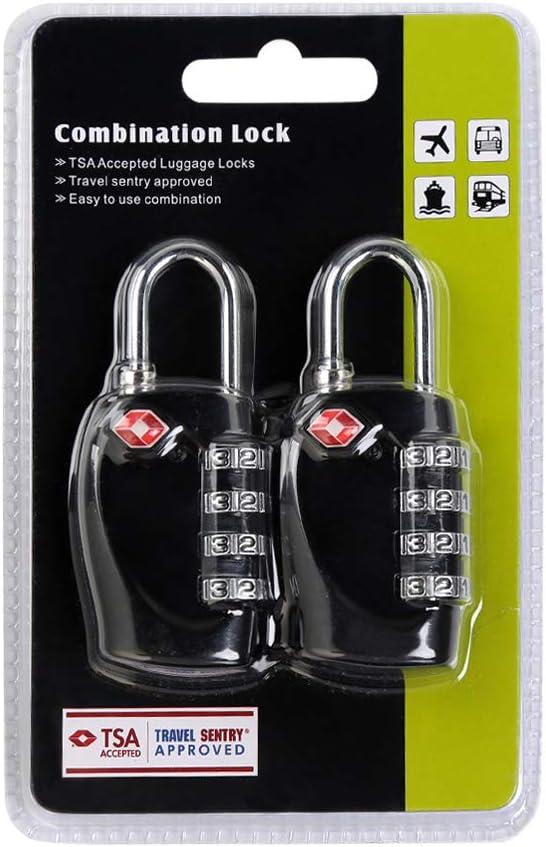 Bolsa De Viaje TSA Equipaje Locks Cerraduras De Equipaje Ballery 2 x Candado TSA Equipaje de Seguridad Combinaci/ón De 3 D/ígitos para Maleta De Viaje