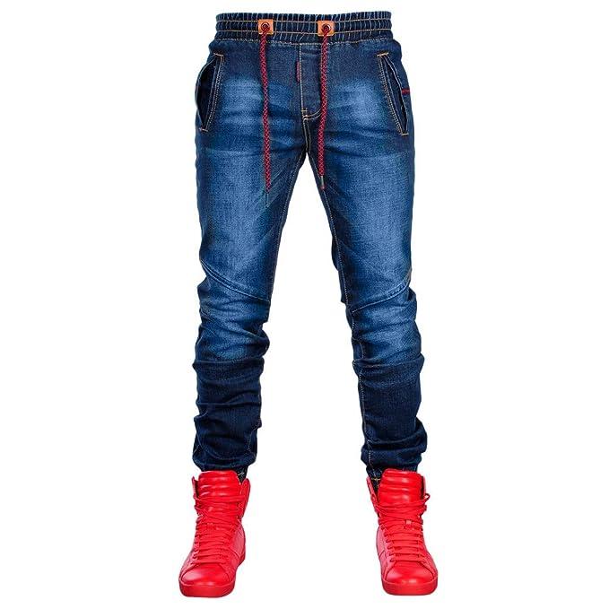 0bf454233c VPASS Pantalones Vaqueros para Hombre