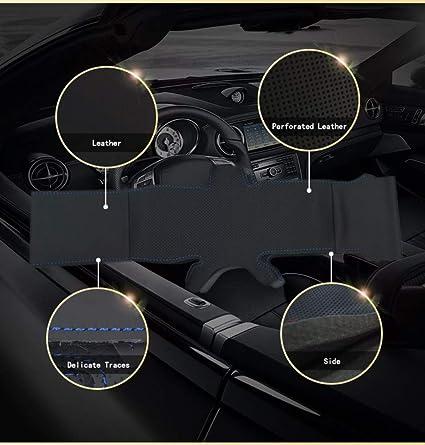 per Land Rover Freelander 2 2007 2008 2009 2010 2011 2012-2018 JIRENSHU Coprivolante per Auto in Pelle Nera