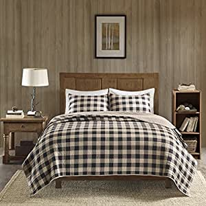 Amazon Com 3 Piece Classic Buffalo Checkered Quilt Set