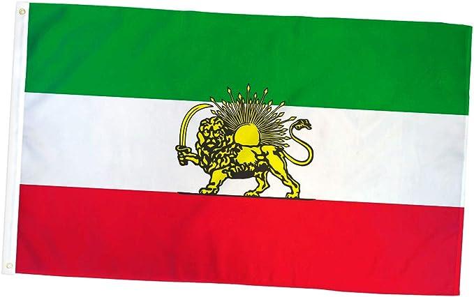 Albatros - Bandera de león iraní antiguo de 3 pies x 5 pies, bandera de Irán Persia para el hogar y desfiles, fiesta oficial, para todo tipo de clima en interiores y