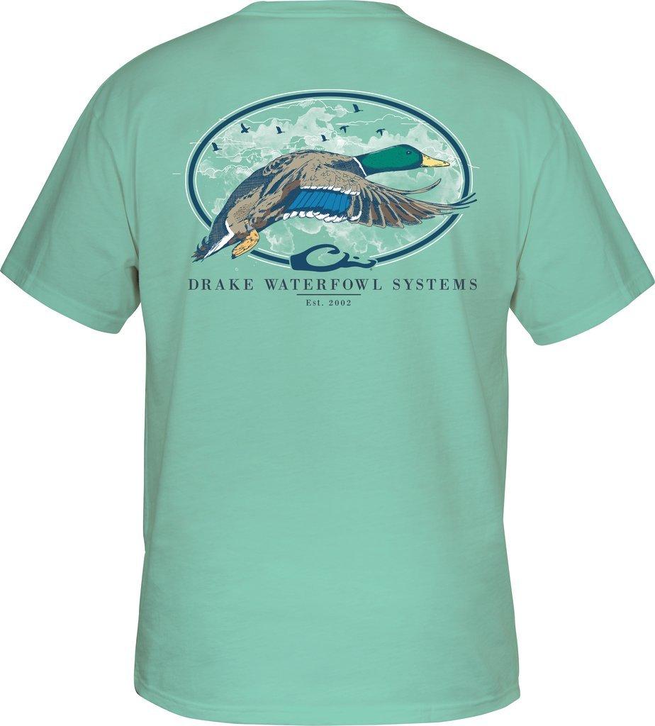 DRAKE Oval Flying T-Shirt Short Sleeve Beach Glass Large