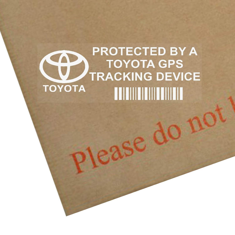 5 x TOYOTA GPS/GPRS-Ortung Sicherheit Fenstertattoo 87 x 30 mm, Yaris, Corolla, Avensis, RAV4, Prius, Auto, Van, Alarm, Tracker Platinum Place