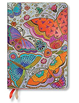 2019 Paperblanks Day-at-a-time Planner (5 x 7 Day Per Page) (Flutterbyes Midi 12M)