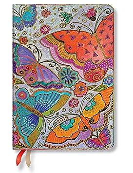 Paperblanks Agenda 2019 con marcapáginas. & Bolsillo Interior | Mariposas | Día para día | Midi (170 x 120 mm)