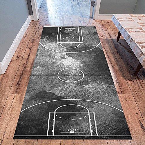 InterestPrint Sweet Home Stores Collection Custom Basketball Court Runner Rug Carpet 10'x 3'3'' Indoor Soft Area Rug - Large Basketball Court Runner