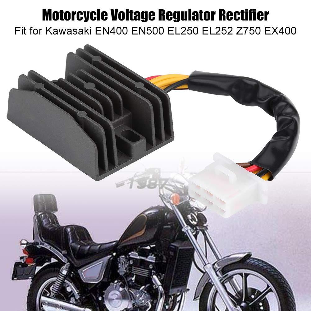 KIMISS Regolatore di tensione del motociclo Regolazione del raddrizzatore EN400 EN500 EL250 EL252 Z750 EX400