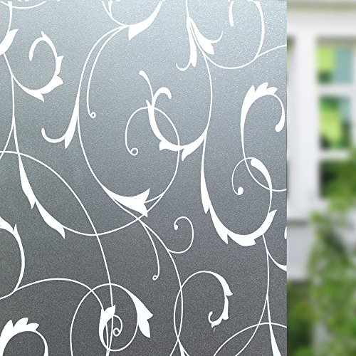 Doors Carved Glass (LEMON CLOUD No Glue Window Film Door Sticker Glass Film 35.4in. By 78.7in. (90cm By 200cm))