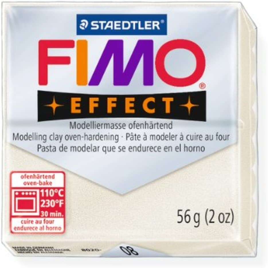 FIMO Effect Polymer Modelling Moulding Clay Block Oven Bake Colour 56g Pack Of 5 08 STAEDTLER FIMO Effect Mother Of Pearl