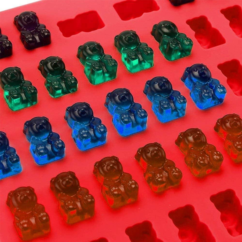18,5 * 13,5 * 1 cm Silikon-Pralinenformen Antihaft-Backformen Eisw/ürfelschalen f/ür die Herstellung von Kuchen-Muffin-Cupcake-Gummib/ärchen-Gelee mit 4 Tropfen