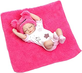 IIWOJ 26cm Reborn Baby Doll Mini Cute Silicone Bambola Fotografia Puntelli,Pink