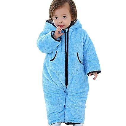 7b579cadd8f0 Per tutina invernale per neonati bambino pigiami One Piece neonati pigiama  blu Blue 85cm: Amazon.it: Prima infanzia