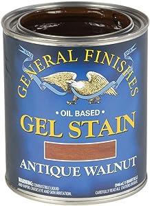 General Finishes Oil Base Gel Stain, 1 Quart, Antique Walnut