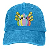 Mens&Women Bowing Sport Cotton Washed Denim Baseball Cap Vintage Cowboy Hat RoyalBlue