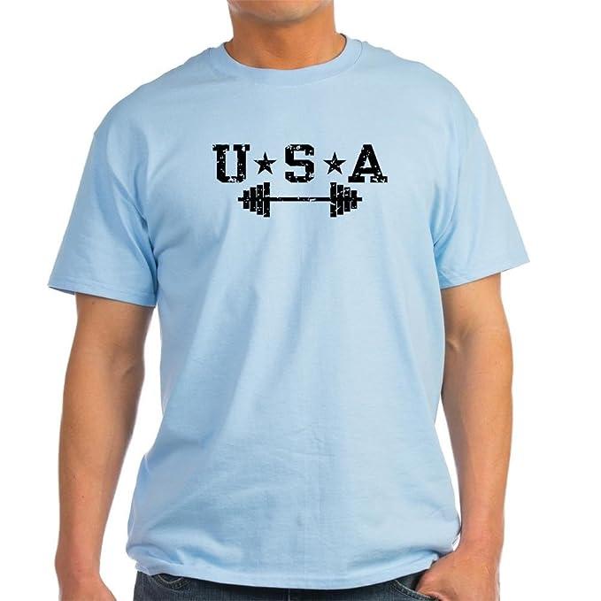 e95ae195 Amazon.com: CafePress USA Weightlifting Light T-Shirt Cotton T-Shirt ...