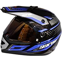Aaron Moto X II Decor Helmet With Bluetooth Kit (Black With Blue)