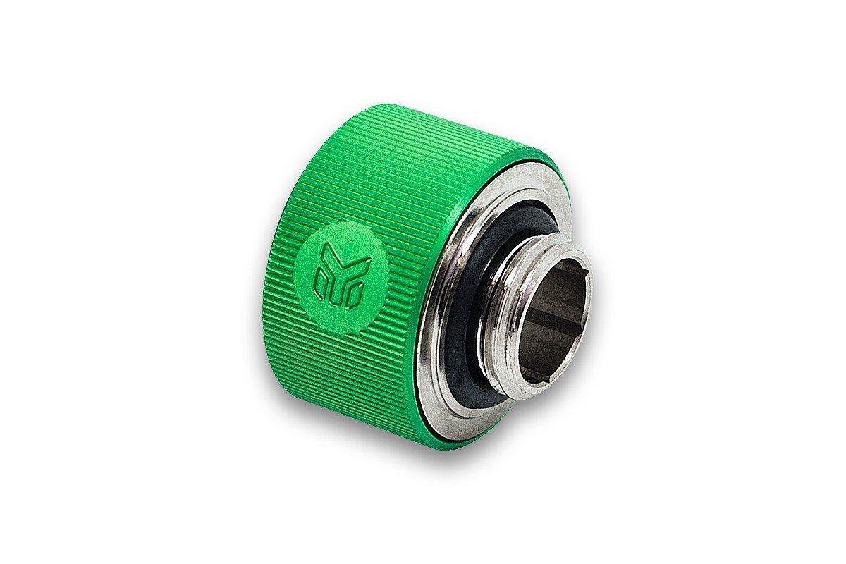 "EKWB EK-ACF Compression Fitting for Soft Tubing, 13/19mm (1/2"" ID, 3/4"" OD), Green, 4-Pack"
