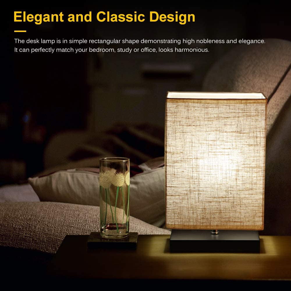 Lámpara de mesilla de noche, lámpara de mesa LED rectangular minimalista moderna Lámpara de escritorio de pie para dormitorio, sala de estar, oficina: Amazon.es: Hogar