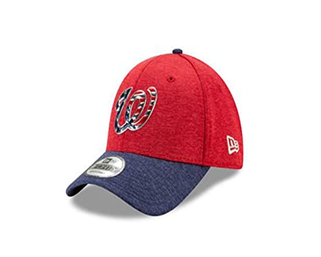 Washington Nationals New Era Red 4th of July Stars and Stripes 9Forty Adult  Hat e3a14ca0bfb