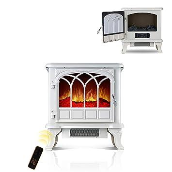 Calentador eléctrico de la estufa de 2000 vatios, con efecto de llama de quemador, ...