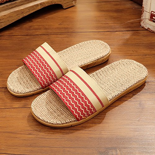 zapatillas Fankou nbsp;Zapatillas en verano 39 casa espeso hembra cool piso ropa antideslizante habitación verano Rojo 40 estancia parejas de 77prwdq