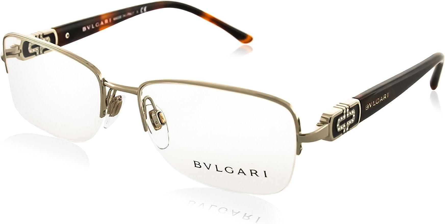 Bulgari - Montura de gafas - para mujer Plateado plata: Amazon.es: Ropa y accesorios