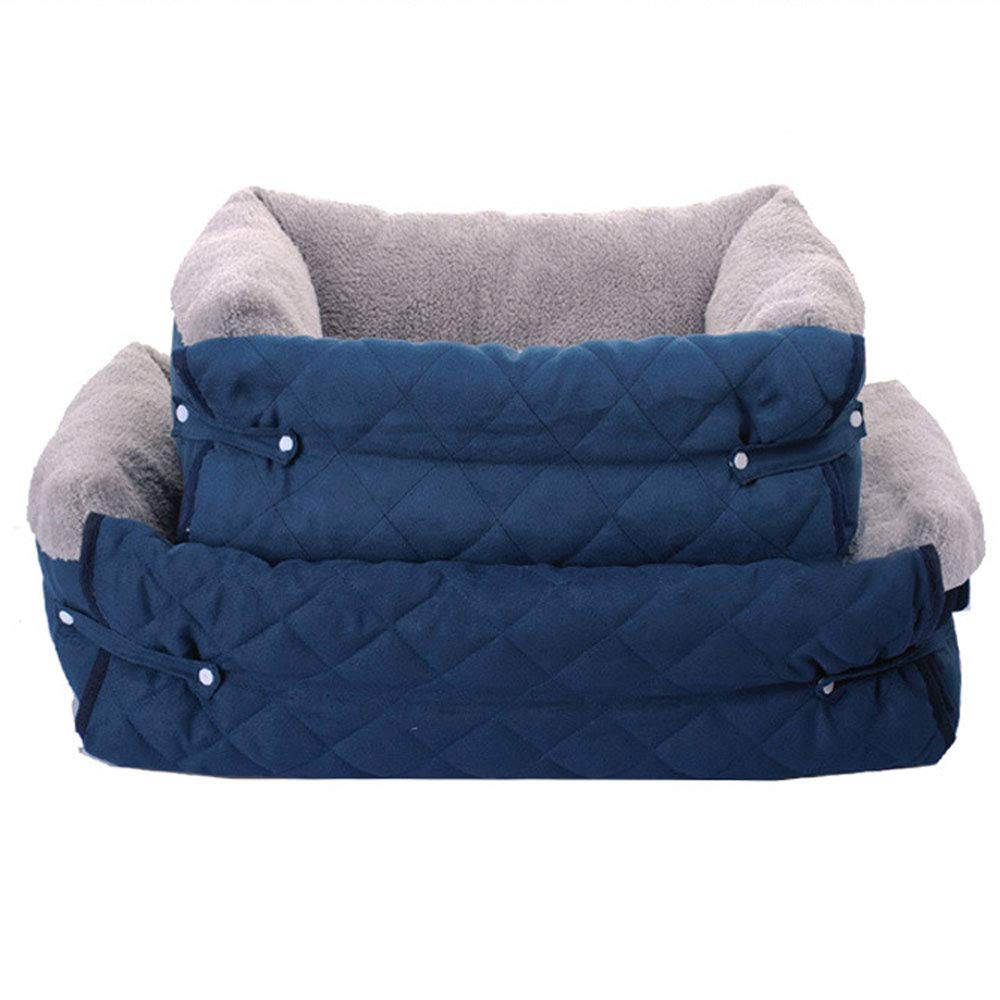bluee Large bluee Large Lyuyu The Dog'S Bed, Multifunctional Sofa Kennel Breathable Buckskin Mattress Sofa Fully Removable And Washable Small And Medium Dog Cat Nest,bluee,L