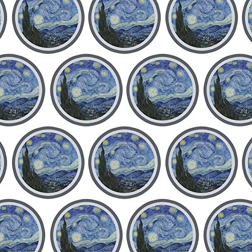 Premium Gift Wrap Wrapping Paper Roll Art Paintings - Starry Night by Van Gogh by Graphics and More