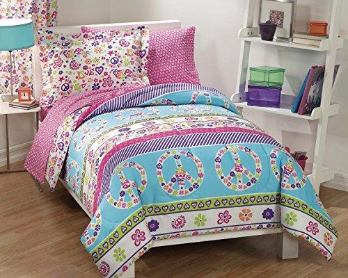 Dream Factory Peace Comforter Multi Colored