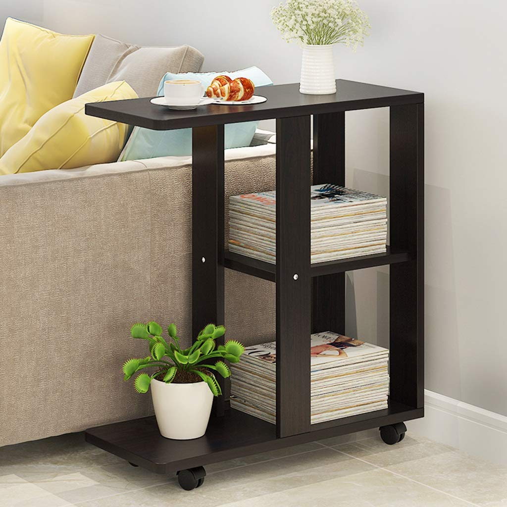 BJLWTQ Bedside Table Small Coffee Table Mini Table Movable Corner Table Sofa Side Cabinet Nightstand