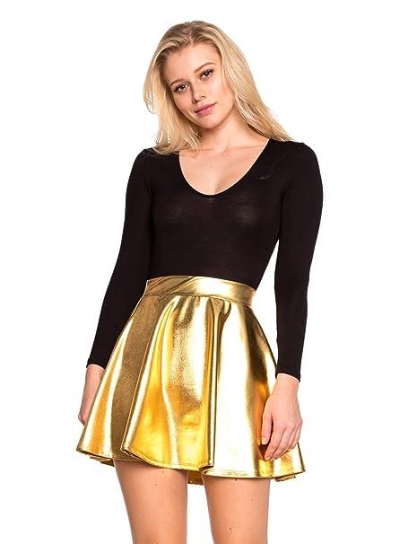 789af347389 Cemi Ceri Women s J2 Love Faux Leather Mini Skater Skirt at Amazon ...