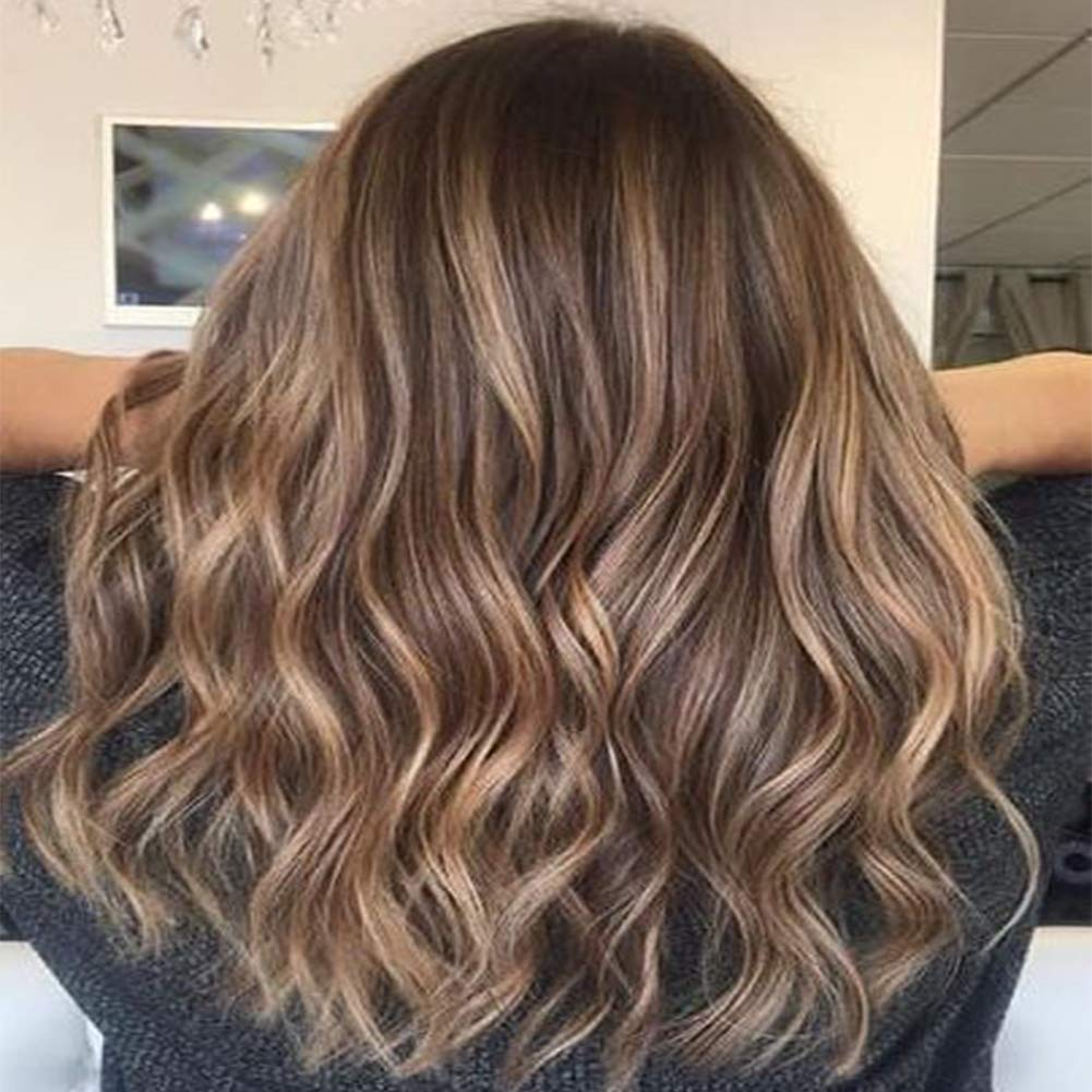 VeSunny Sew in Hair Extensions Remy Human Hair Color 4 Dark Brown Fading  to 27 Caramel Blonde Mix 4 Brown Balayage Hair Bundles Sew in Real Human