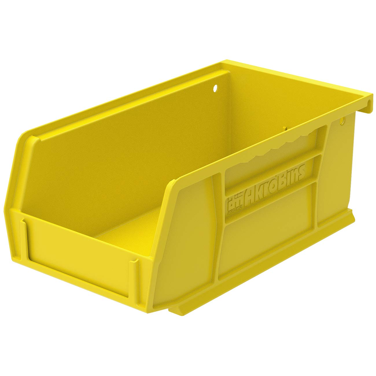 Akro-Mils 30220YEL AkroBins Plastic Storage Bin Hanging Stacking Containers, (7-Inch x 4-Inch x 3-Inch), Pack of 24, Yellow
