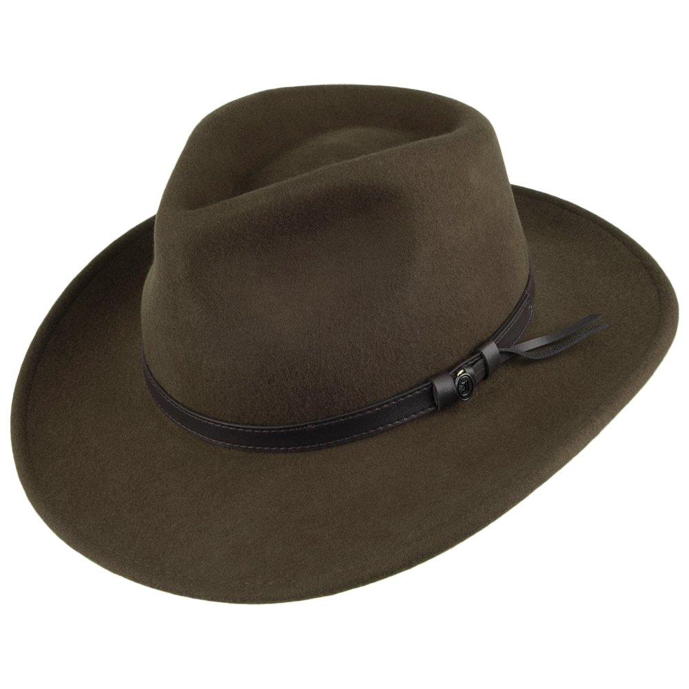 Jaxon & James Crushable Outback Hat - Olive