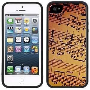 Music Notes Sheet Handmade iPhone 5 Black Bumper Plastic Case