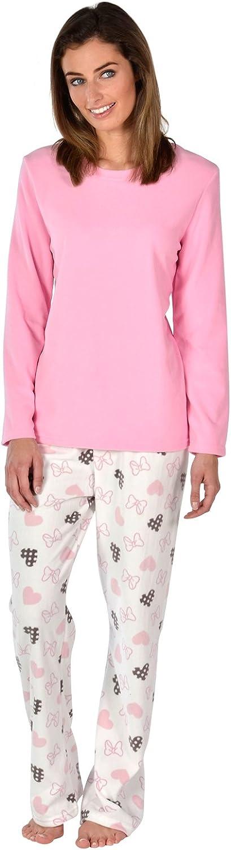 Autumn Faith Ladies Cosy Soft Fleece Pyjama Gift Set PJs Long Top /& Bottoms Womens Nightwear