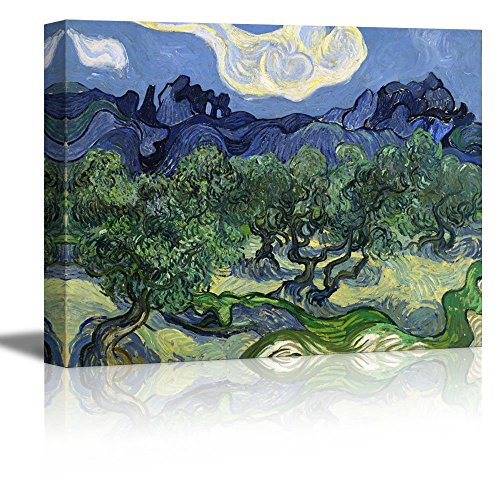 Olive Trees by Vincent Van Gogh Oil Painting Reproduction